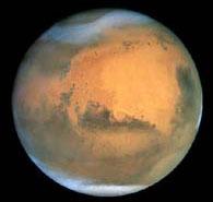 Imagen de las nubes heladas de Marte. Crédito: NASA/Hubble Heritage Team (STScI/AURA)